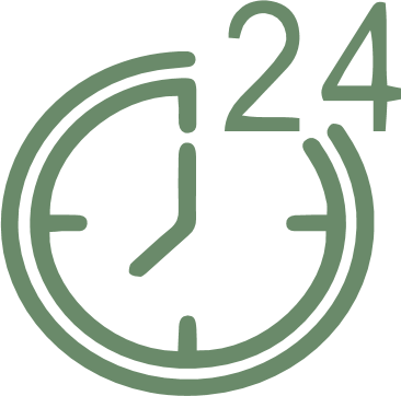 green 24 hour clock
