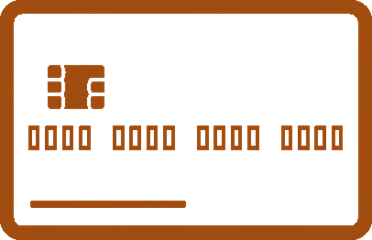 orange credit card icon