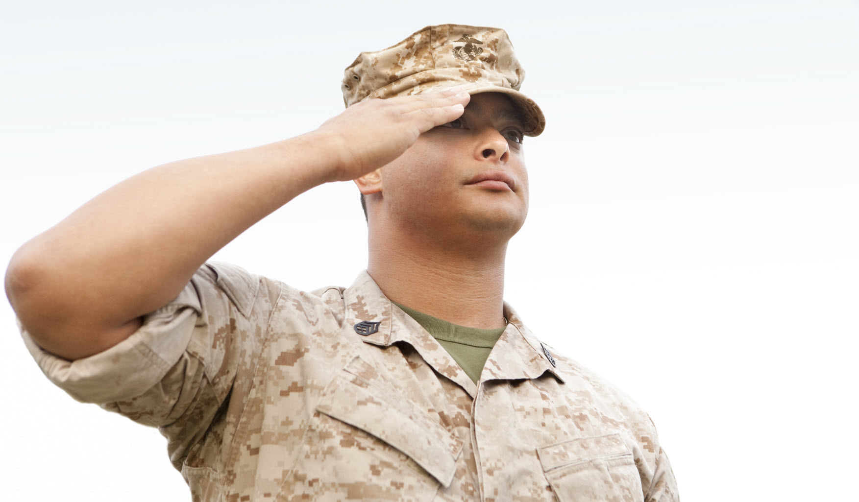 military male saluting