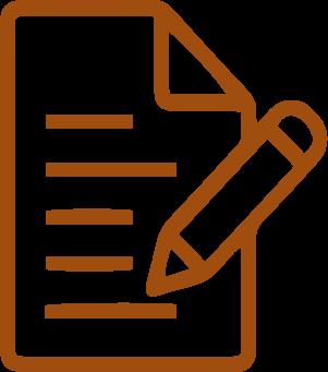 orange contract with pen