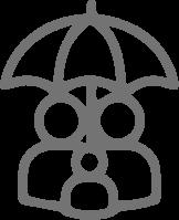familia bajo paraguas