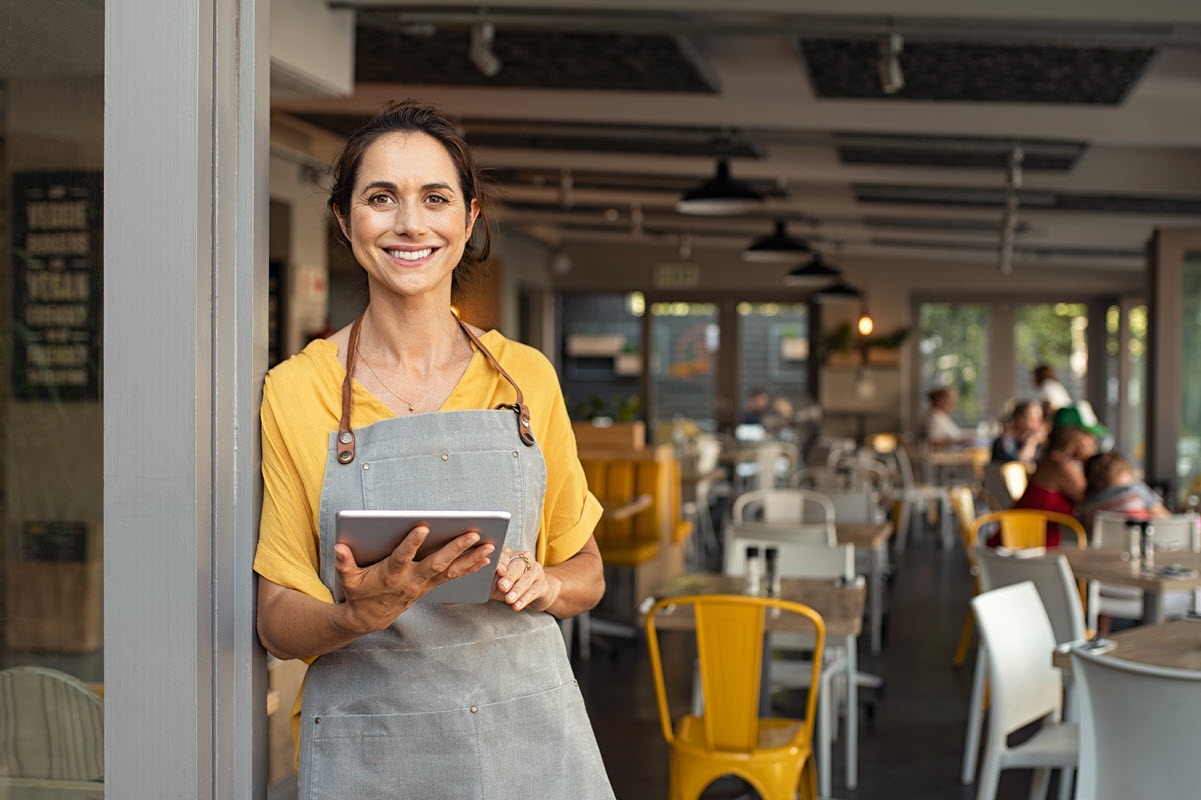 female small business owner