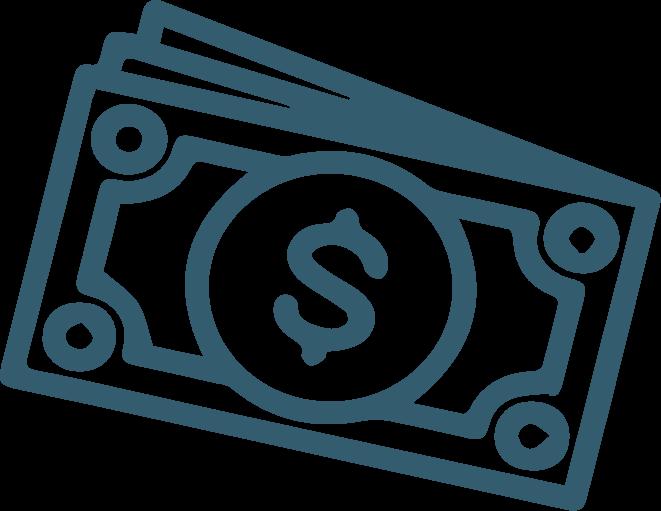 blue dollar bills