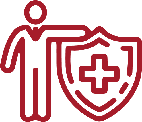 person with medical symbol icon