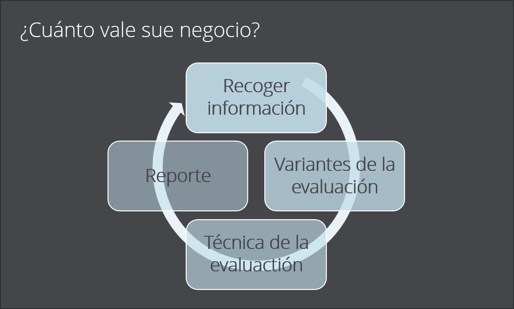 ¿Cuánto vale sue negocio? con recoger informacion, variantes de la evaluaction, tecnica de la evaluacion y reporte