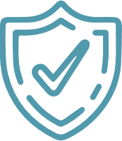 blue shield with checkmark
