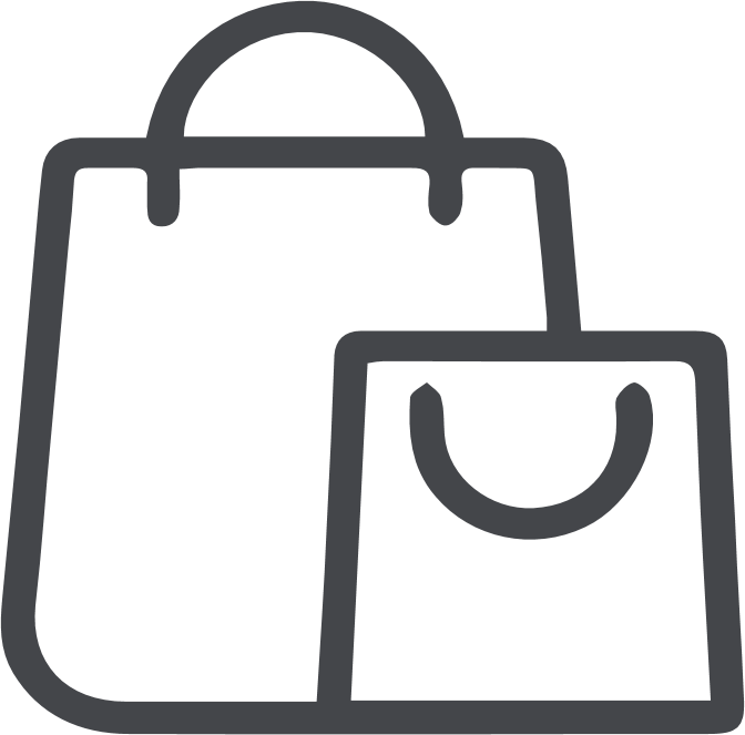 icono de bolsa de compras