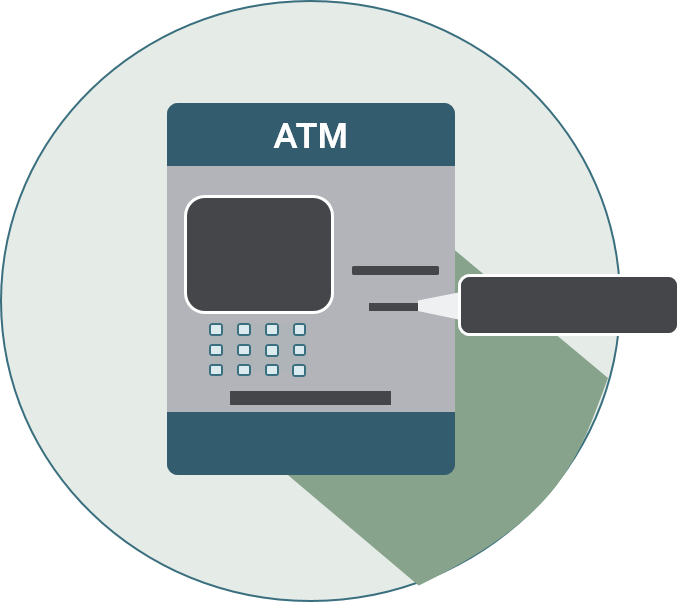 icon of an atm with card reader highlighted