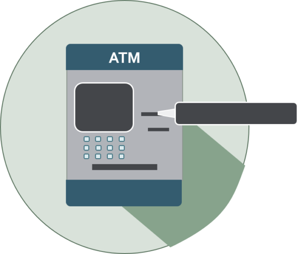 icon of an atm with receipt printer highlighted
