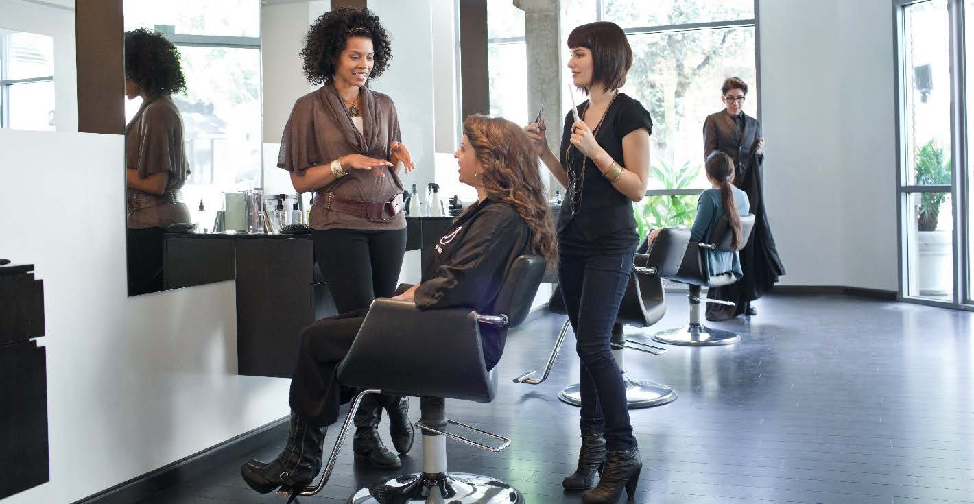 Women at salon
