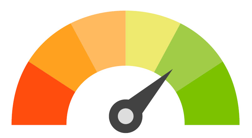 credit score arrow icon