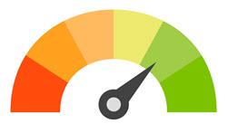 credit score arrow