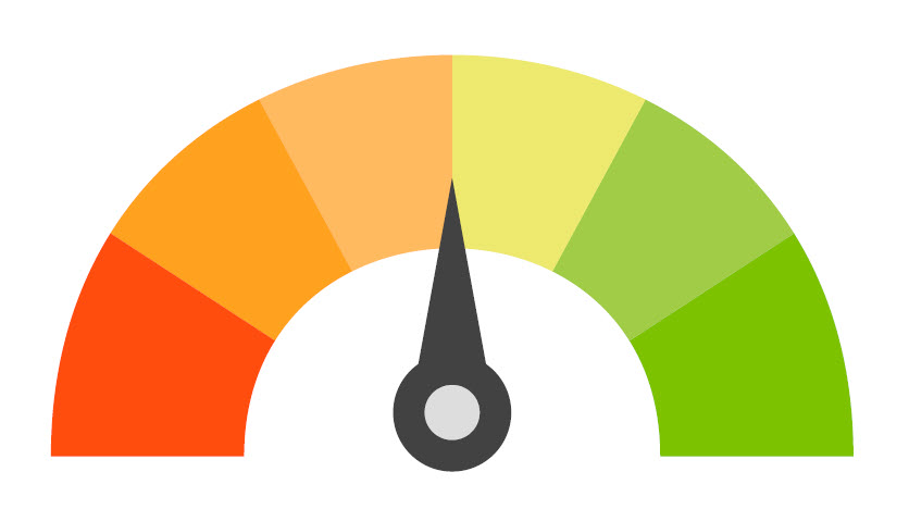 credit score arrow middle icon