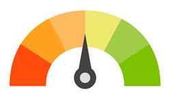credit score arrow middle