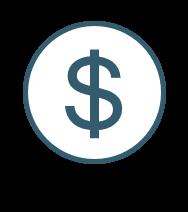 blue dollar sign